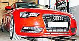 Декоративно-защитная сетка радиатора Audi A5 фальшрадиаторная решетка, бампер, фото 4