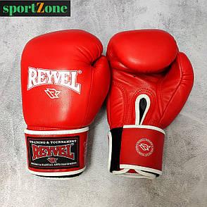 Перчатки для бокса Reyvel кожа 10 oz (унций) красный