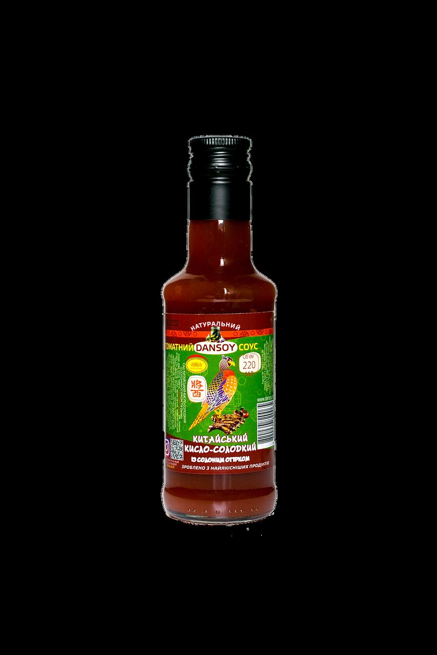 Китайський кисло-солодкий соус з огірком 🦑 від ТМ Дансой 220 мл