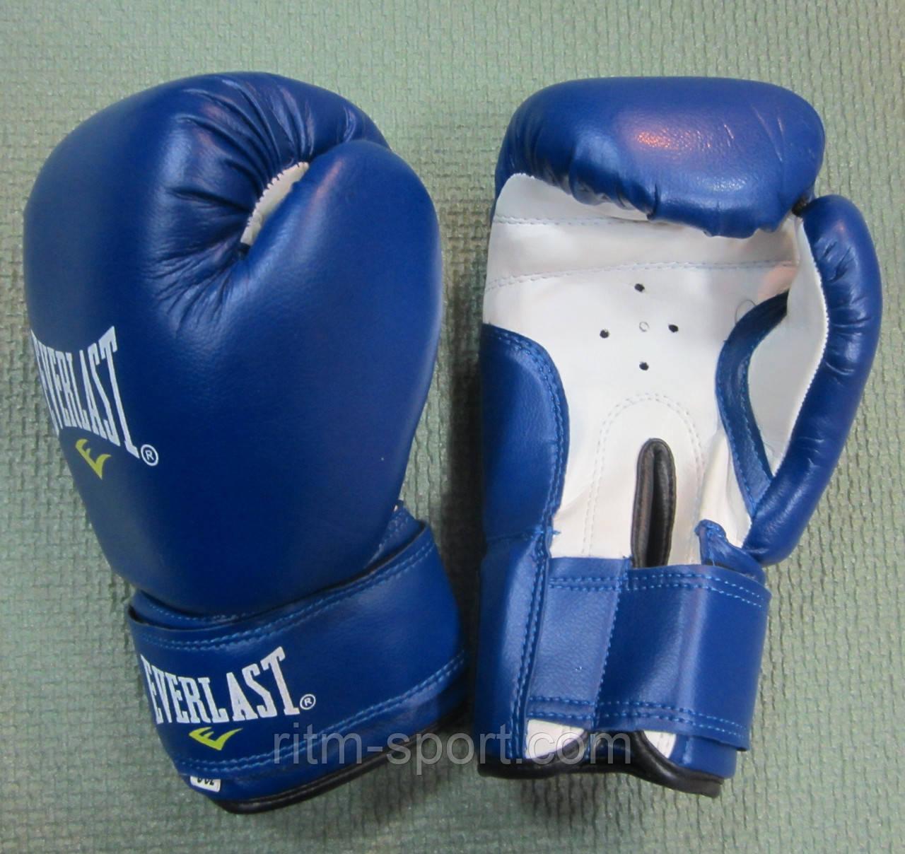 Перчатки боксерские EVERLAST синие (12 унций)