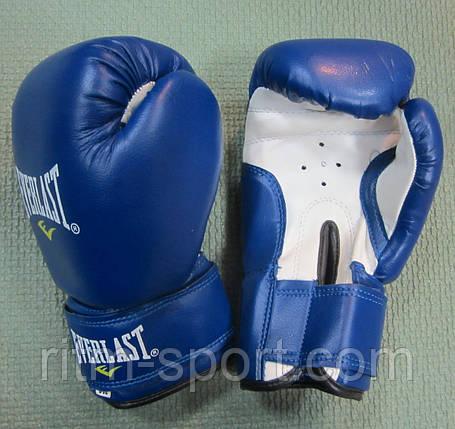 Рукавички боксерські EVERLAST сині (12 унцій), фото 2