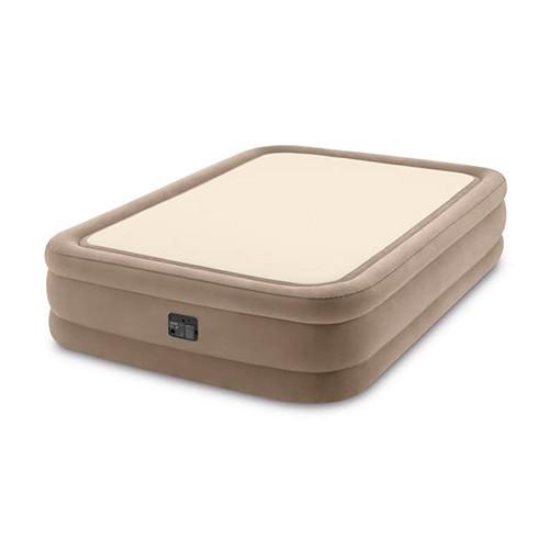 Двоспальне надувне ліжко з вбудованим електричним насосом Intex Prime Comfort 64478 (152-203-51 см)