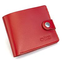 Портмоне жіноче шкіряне на кнопці Handycover HC0042 червоне
