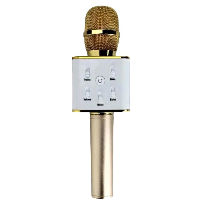 Беспроводной bluetooth микрофон для караоке портативный MICGEEK Q7 блютуз микрофон караоке Золотой (360)