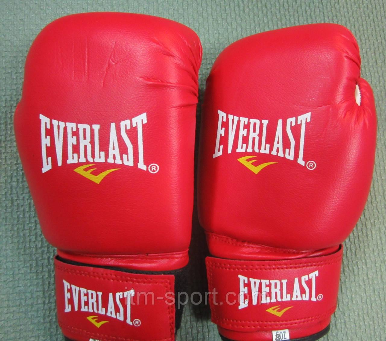 Рукавички боксерські EVERLAST червоні 8 унцій