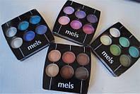 Компактные тени с зеркалом Meis 6 цветов оптом