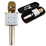 Беспроводной bluetooth микрофон для караоке портативный MICGEEK Q7 блютуз микрофон караоке Золотой (360), фото 2