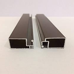 Профиль москитный DL-04 внешний 10х20 Standart RAL8017 Шоколадно-коричневый (от 120м)