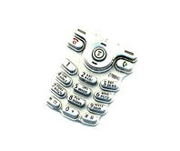 Клавиатура для Motorola C200, серебристый /Кнопки/Клавиши /моторола
