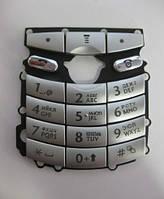 Клавиатура для Motorola E398, серебристая /Кнопки/Клавиши /моторола
