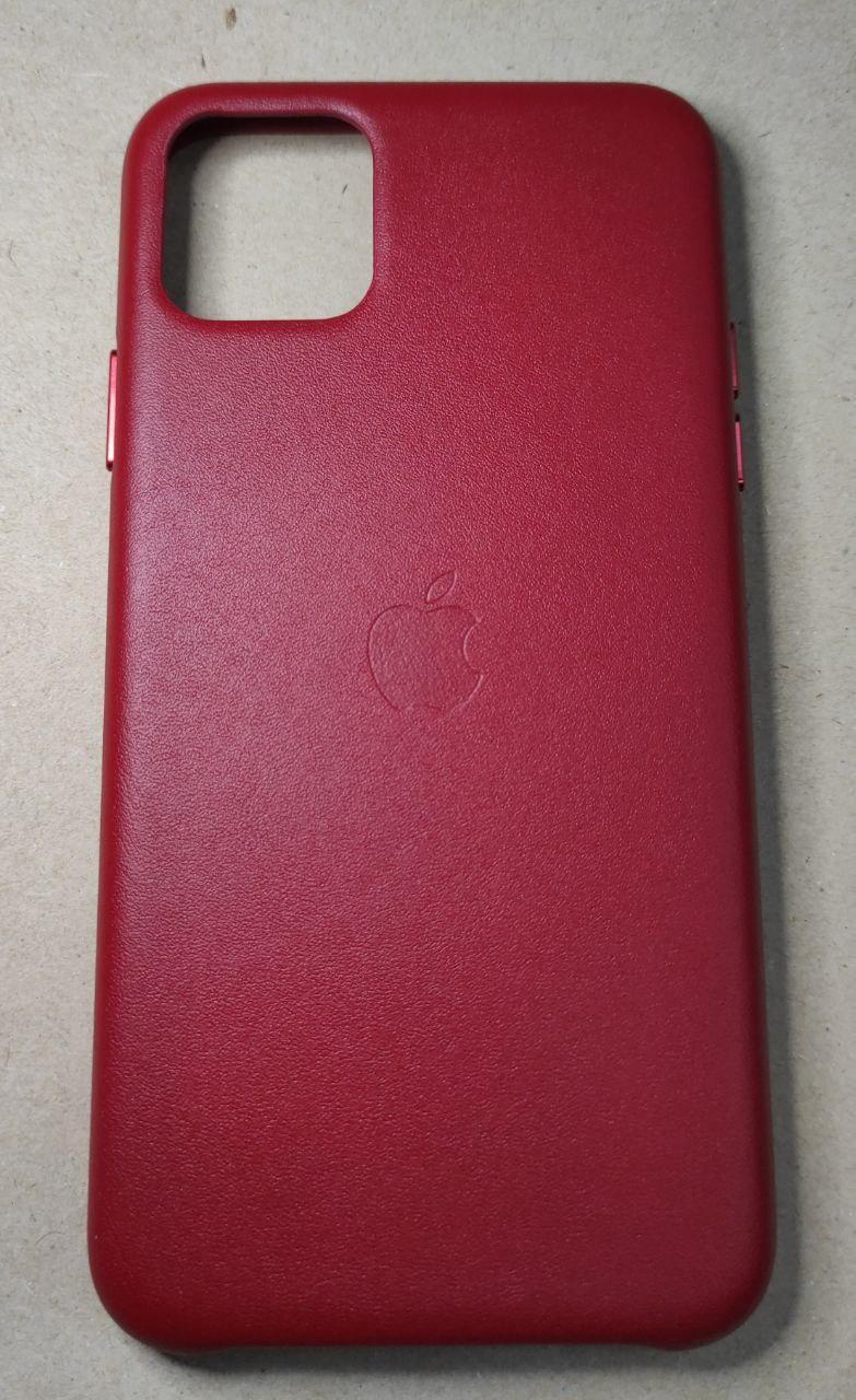 """Винтажный кожаный чехол на iPhone 11 Pro Max """"Красный"""""""