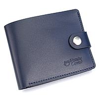 Портмоне чоловіче шкіряне на кнопці Handycover HC0042 синє, фото 1