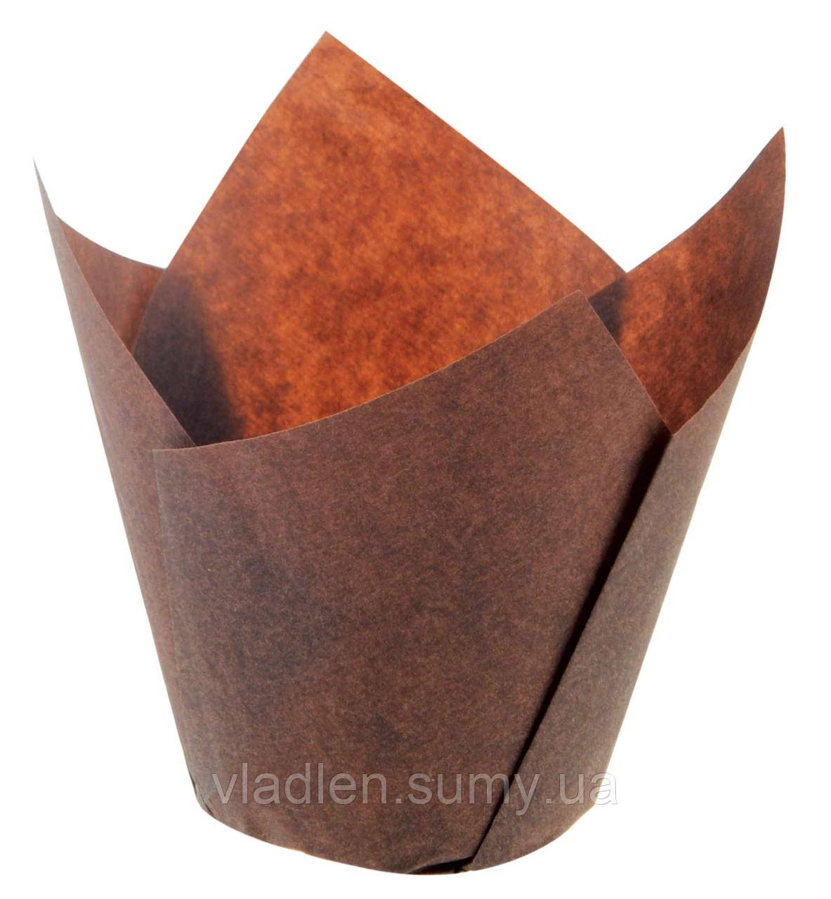 "Форма ""Экопак"" 715050В/1R форма для выпечки Тюльпан корич.150/50 (16*200шт)"
