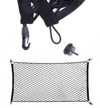 Сітка в багажник кишеню 90х30 (в пакеті) + Врізні гачки Elegant 100676