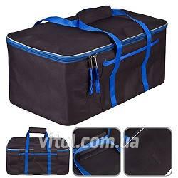 """Сумка в багажник 480х300х200мм черно-синяя ткань PVC """"Штурмовик"""" АС-1538"""