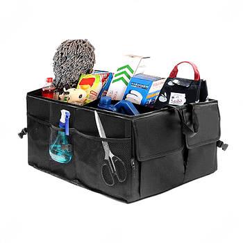 "Сумка-органайзер в багажник каркасная 530х380х260мм черная ткань PVC ""Elegant Travel Maxi"""