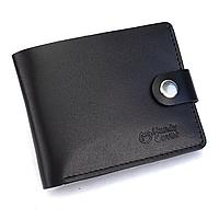 Портмоне мужское кожаное на кнопке Handycover HC0042 черное, фото 1