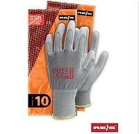 Защитные перчатки reis из нейлона  с полиуретановым покрытием  RNYPO. Цена за 120 шт