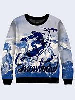 Cвитшот SNOWBOARD; XXS, XS, S, M, L, XL, фото 1