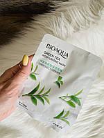 Маска Bioaqua тканинна для обличчя з екстрактом зеленого чаю