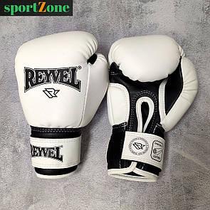 Перчатки для бокса Reyvel винил (искусственная кожа) 6 oz (унций) белый