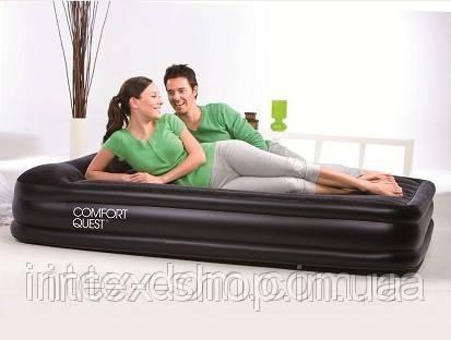 Кровать надувная Bestway 2местн. флок 67430 черн 203х152х38см, фото 2