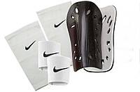 Щитки футбольные SPORTS (белые), держатели (сеточки) NIKE, тейпы (резинки) для щитков NIKE (белые)