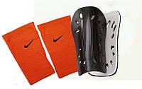 Щитки футбольные SPORTS, держатели (сеточки) NIKE (оранжевые)
