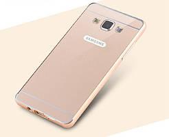 Металлический бампер для Samsung A3 A300 с задней панелью