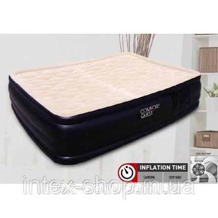 Надувная кровать BestWay 67432 (203х152х46 см.) со встроенным электрическим насосом, фото 2