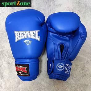 Перчатки для бокса Reyvel винил (искусственная кожа) 10 oz (унций) синий