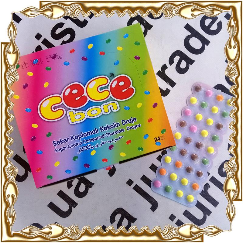 Драже шоколадне CeCe Bon 22 г. 24 шт./уп.