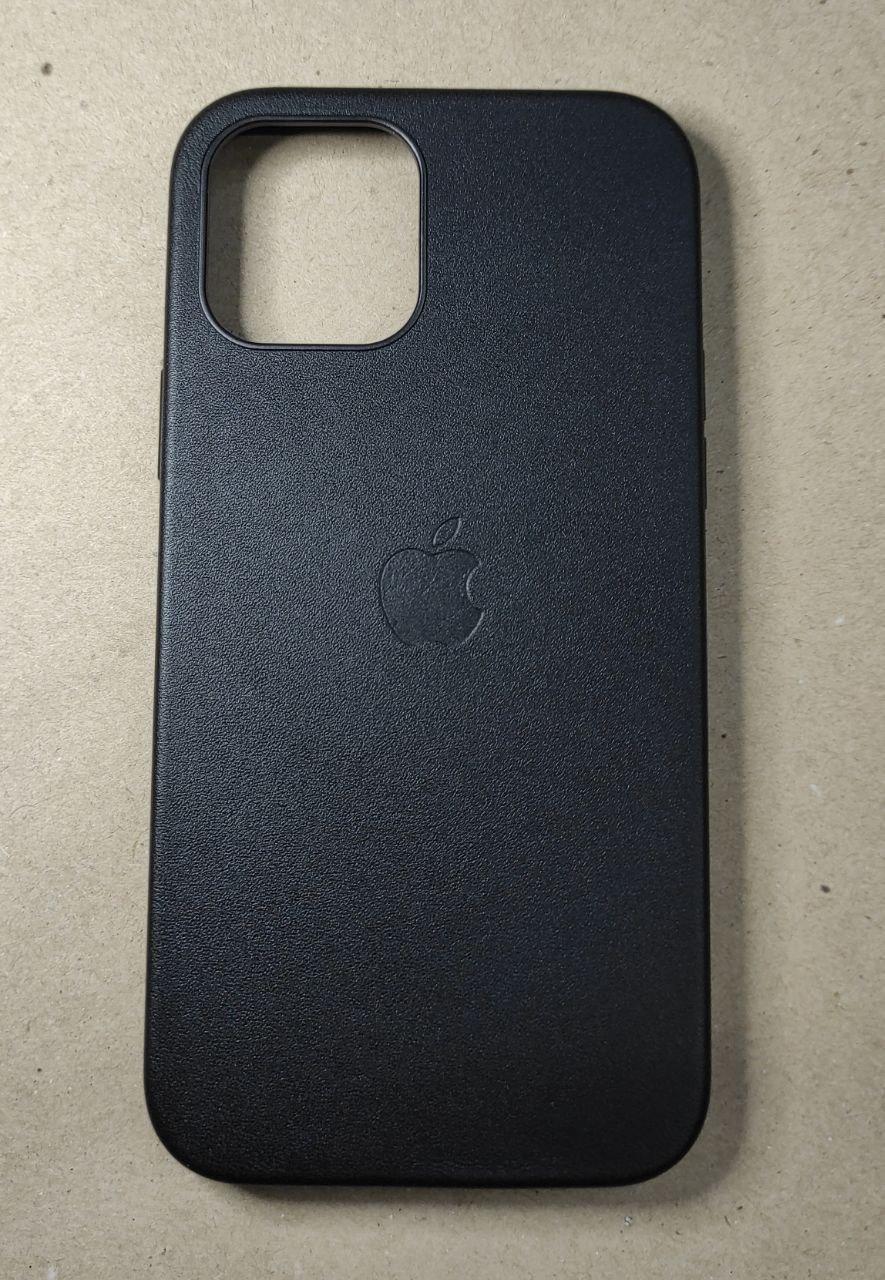 """Винтажный кожаный чехол на iPhone 12 Pro """"Черный"""""""
