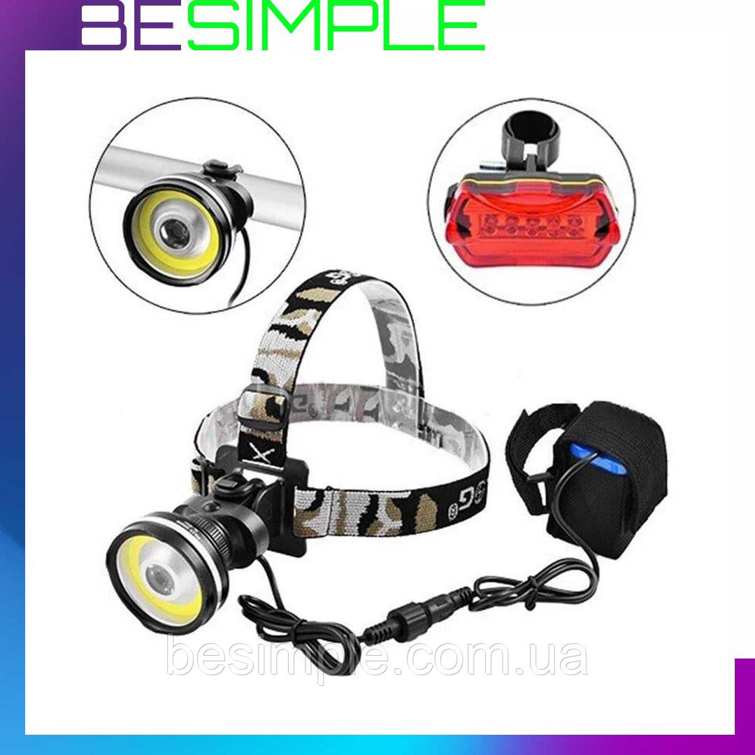 Фонарик на велосипед аккумуляторный BL-B031 / Велосипедный фонарь