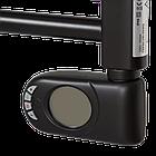 Полотенцесушитель электрический, Zehnder Aura, 786 х 400 мм, с программируемым тэном 300 Вт, черный матовый, фото 5
