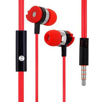 Вакуумні навушники Celebrat D1 гарнітура для телефону Червоний