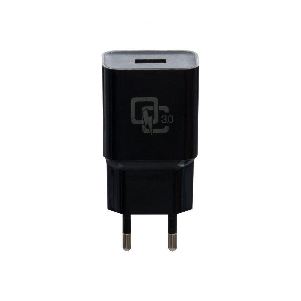 Зарядний пристрій Wuw YJ-08 2A Quick Charge 3.0 з кабелем Type C Чорний