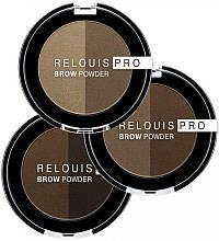 Тіні для брів Relouis PRO BROW POWDER 3 Dark Brown