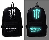 Школьный рюкзак с иллюминацией светящийся принт Monster Energy, фото 1