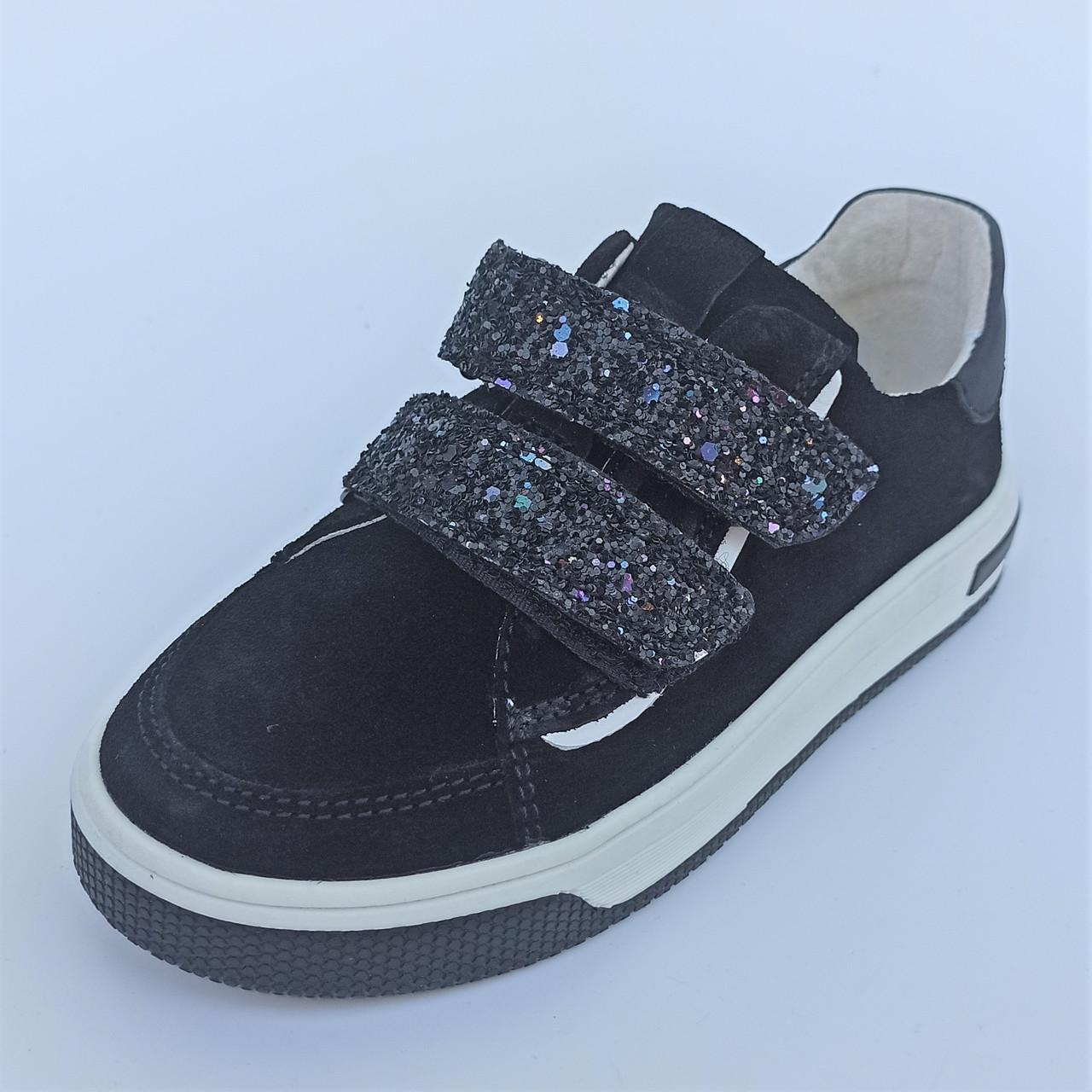Туфлі замшеві з яскравими липучками (код 1278) розміри: 30-35