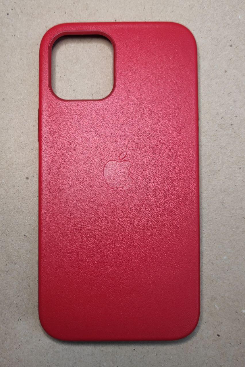 """MagSafe кожаный  чехол на iPhone 12 Pro Max """"Красный"""""""