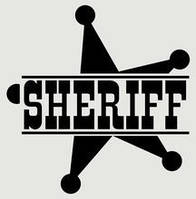 Виниловая наклейка на авто - Звезда Sheriff 2 60x60 см
