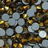 Стрази термоклеевие Premium GOLD AURUM SS 20 Hot Fix 100 шт., фото 2