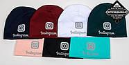 Комплект молодёжный светоотражющий принт Instagram (20208), Бордовый, фото 5