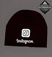 Комплект молодёжный светоотражющий принт Instagram (20208), Бордовый, фото 6
