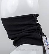 Бафф флісовий з затягуванням, оптом, (Чорний), фото 2