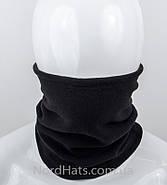 Бафф флісовий з затягуванням, оптом, (Чорний), фото 3