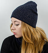 "Комплект ""Тая"", шапка+бафф, (Синий), фото 2"