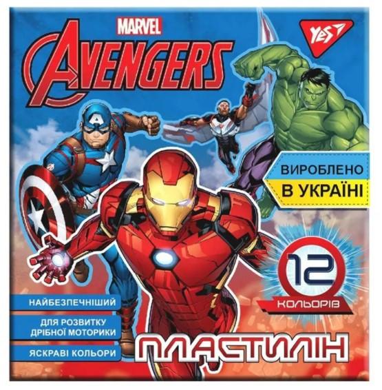 Пластилин Yes Marvel 12 цветов