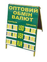 Штендер (мимоход) А-образный - Обмен валют с комплектом цифр
